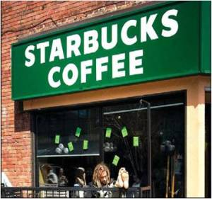 Not the winner: Starbucks does not report percentage of coffee grown without synthetic chemicals.