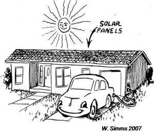 Bureaucratic red tape seriously hampered the California Solar Initiative. Illustration by Willis Simms.