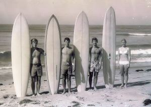 Surfing might seem like an earth-friendly sport, but a closer look reveals that the environmental impact may be more than you realize. Photo c1967 at Old Man's Beach, San Clemente, California.Surfing might seem like an earth-friendly sport, but a closer look reveals that the environmental impact may be more than you realize. Photo c1967 at Old Man's Beach, San Clemente, California.